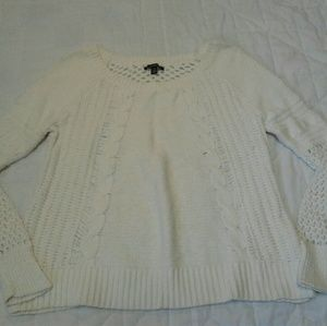 American Eagle Outfitters Cream Knit Sweater
